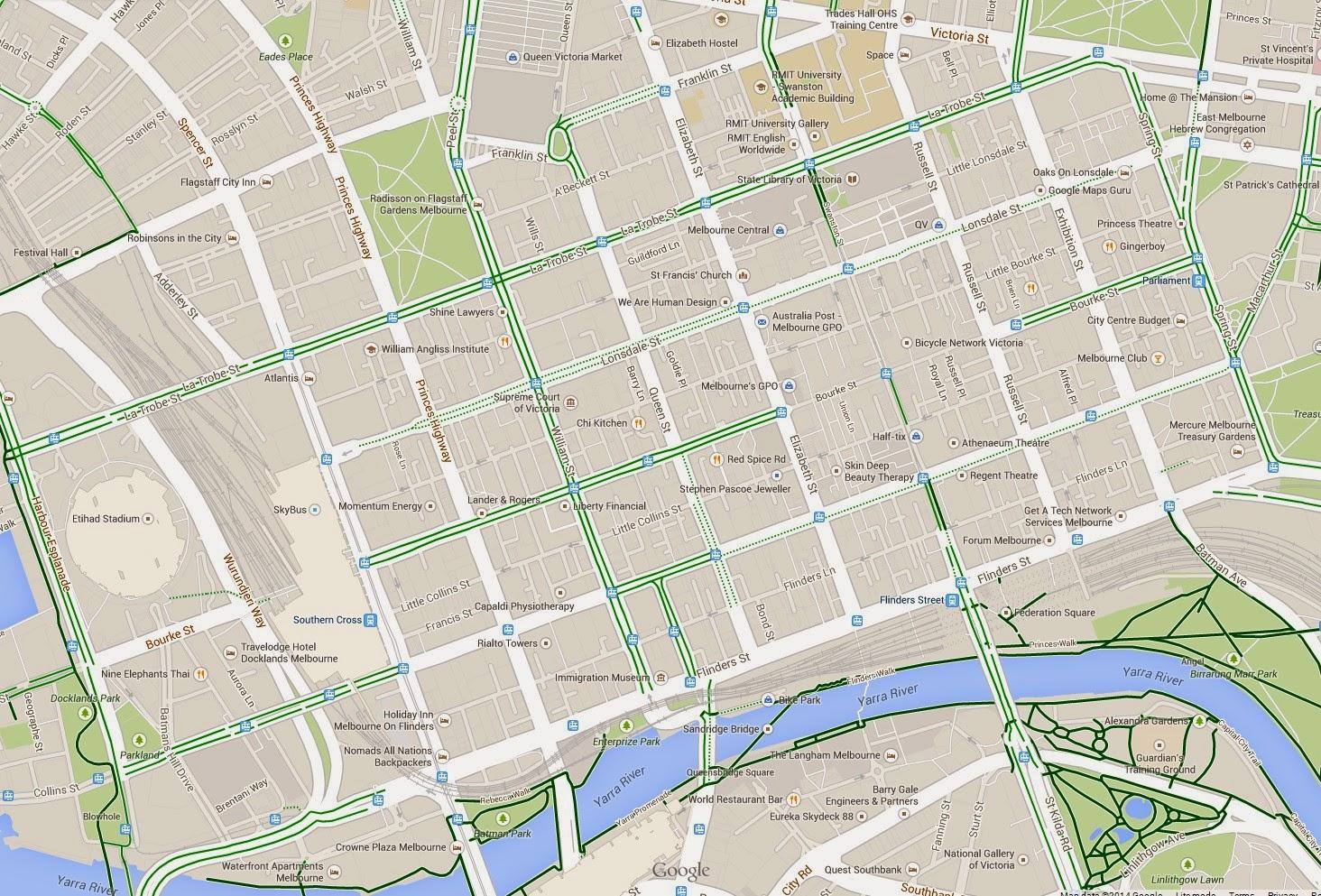 Melbourne cbd carte carte de cbd de Melbourne Australie